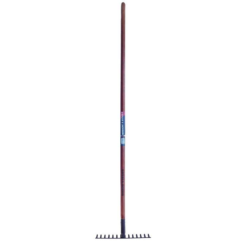 Spear & Jackson Soil Rake Long Timber Handle 14 Tines