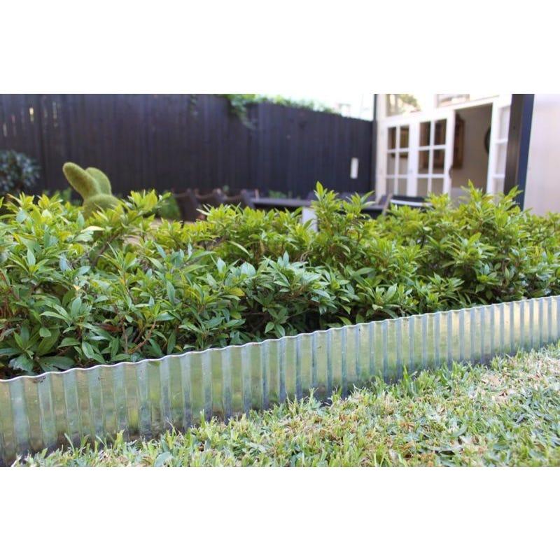Steel Garden Edging Galvanised 150mm x 6m