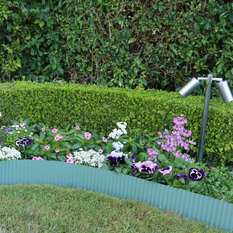 Steel Garden Edging Green 150mm x 6m