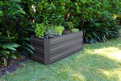 Greenlife Slimline Garden Bed Charcoal