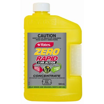 Yates Zero Rapid 1 Hour Action Weedkiller Concentrate 500ml
