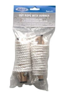 Guy rope with runners.