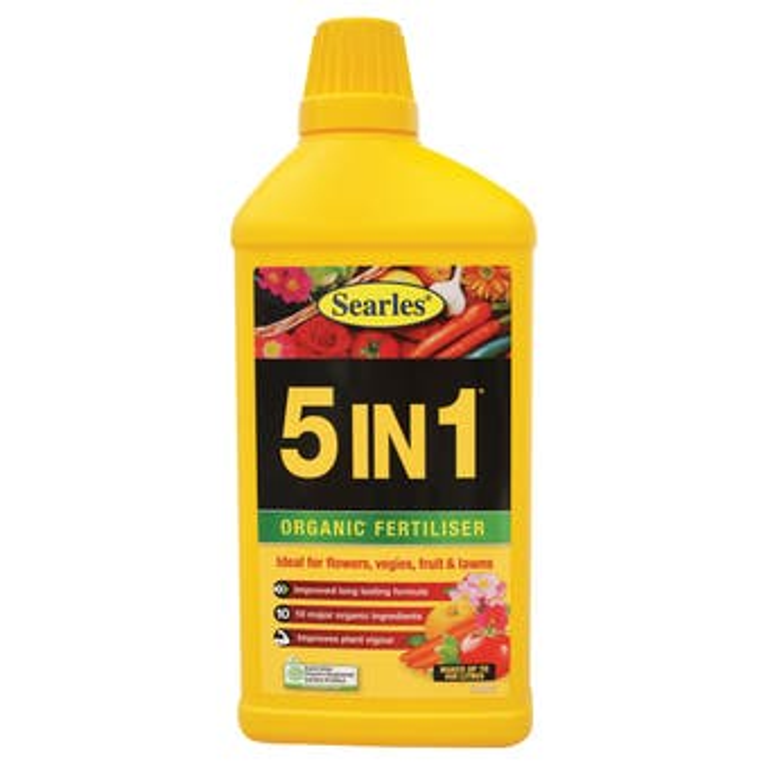 Searles 5 in 1 Organic Fertiliser Concentrate 1L