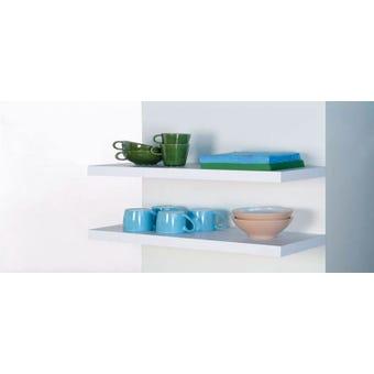 Topshelf Shelf Floating White 120X25X3.8CM
