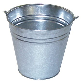 Queen Galvanised Bucket