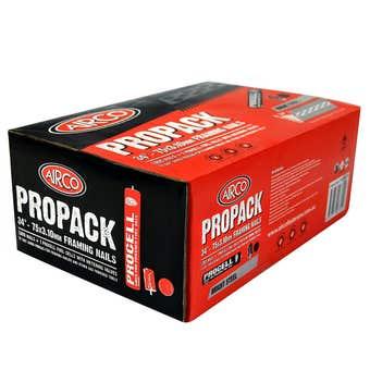 Airco Propack Bright Steel Gun Nails 75x3.10mm - 1000 Box