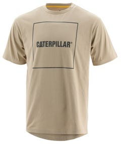 CAT Logo Drop Tail T-Shirt Oxford Tan 2XL