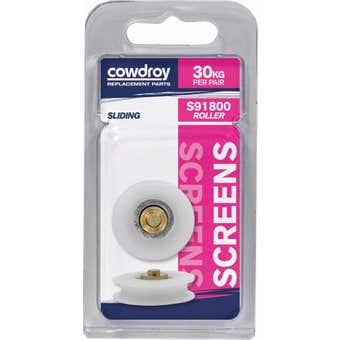 Cowdroy 29mm Concave Security / Flyscreen Wheel & Axle 2 Pack