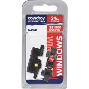 Cowdroy 10mm Sliding Window Flat Wheel Sheave 2 Pack