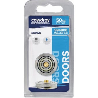 Cowdroy 25mm Concabe Stainless Wheel & Axle 2 Pack
