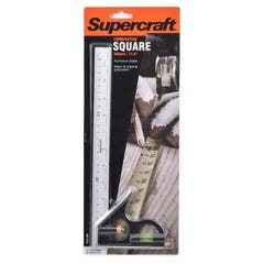 Supercraft 300mm Square Combination With Level