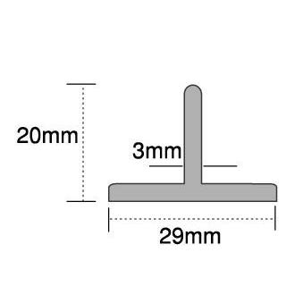 Cowdroy 2500mm Aluminium T Guide