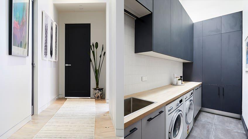 Bianca & Carla: Hallway + Laundry