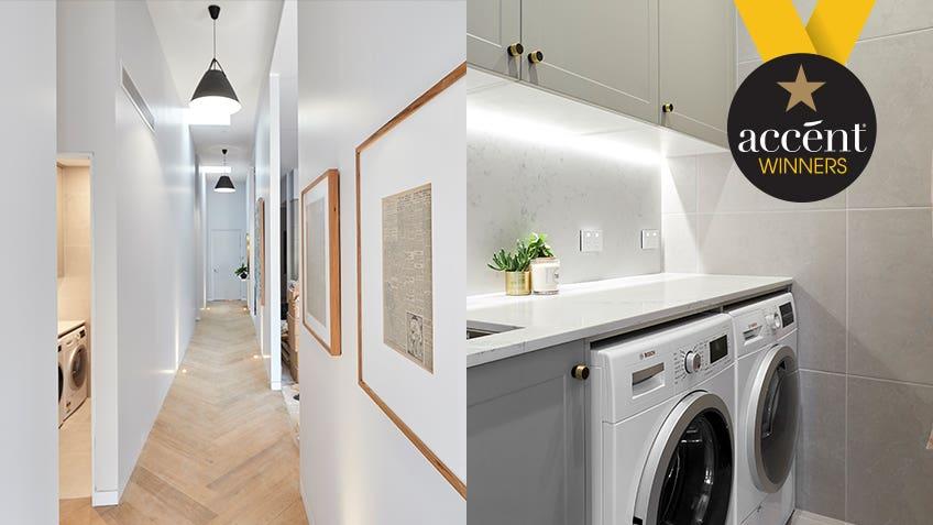 Hayden & Sara: Hallway + Laundry