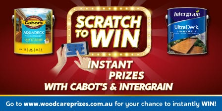 Cabots Marketing Block - Scratch & Win