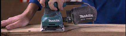using a finishing sander