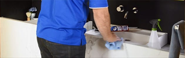 prepare by cleaning the work area