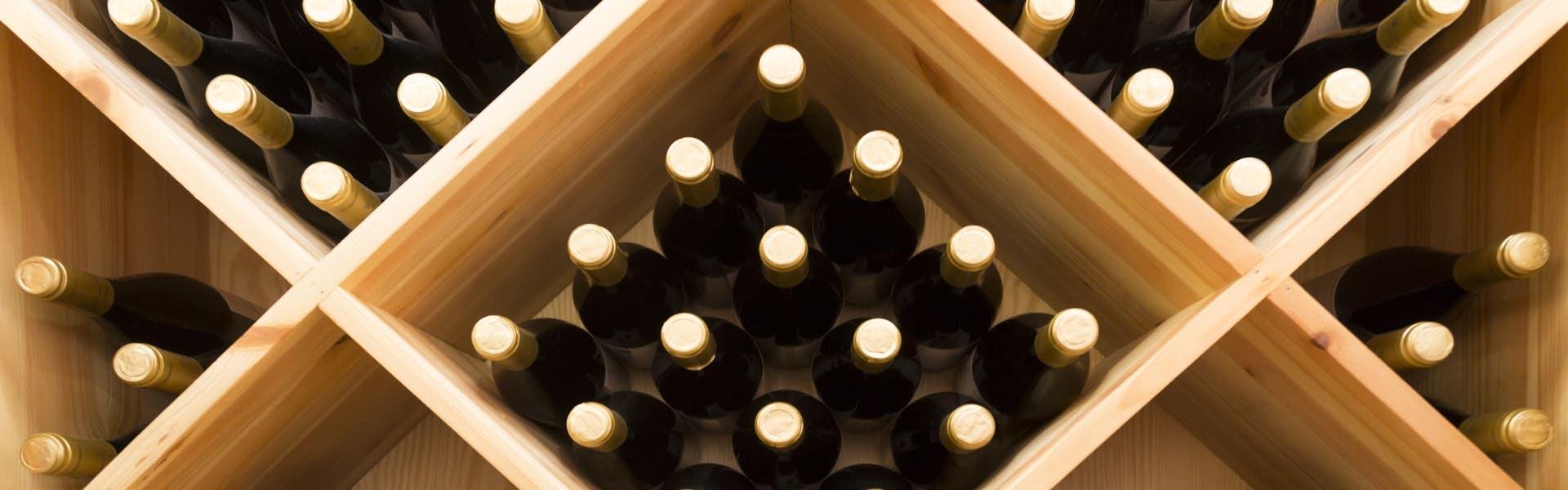 Wine rack filled up
