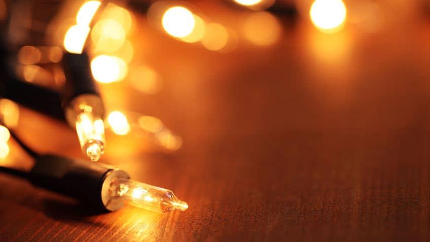 christmas lights on display