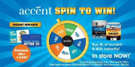 Accent Spin and Win 01/04/20 - 31/05/20