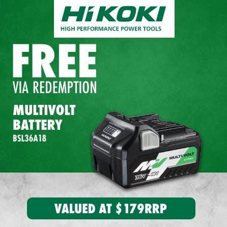 Free Hikoki Multivolt Battery