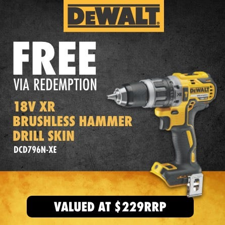 Free via redemption 18V XR Brushless Hammer Drill Skin