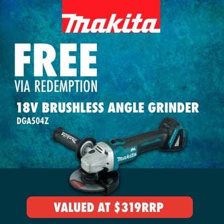 Free Makita LXT 18V Brushless Angle Grinder