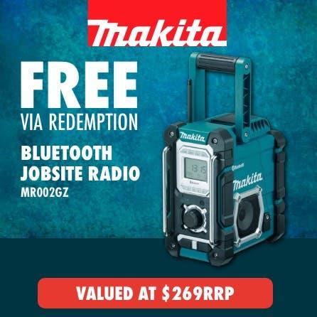 Free via redemption Makita Bluetooth Jobste Radio