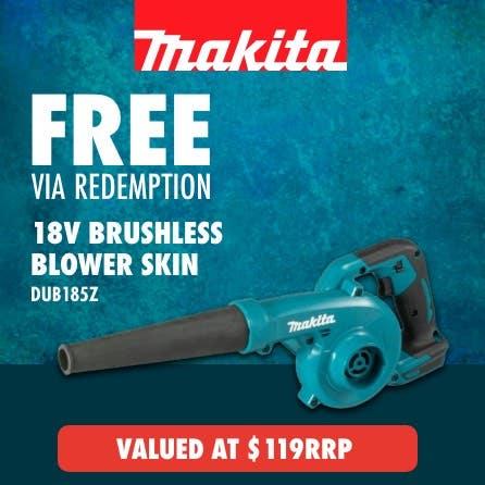 Free via redemption Makita LXT 18V Blower