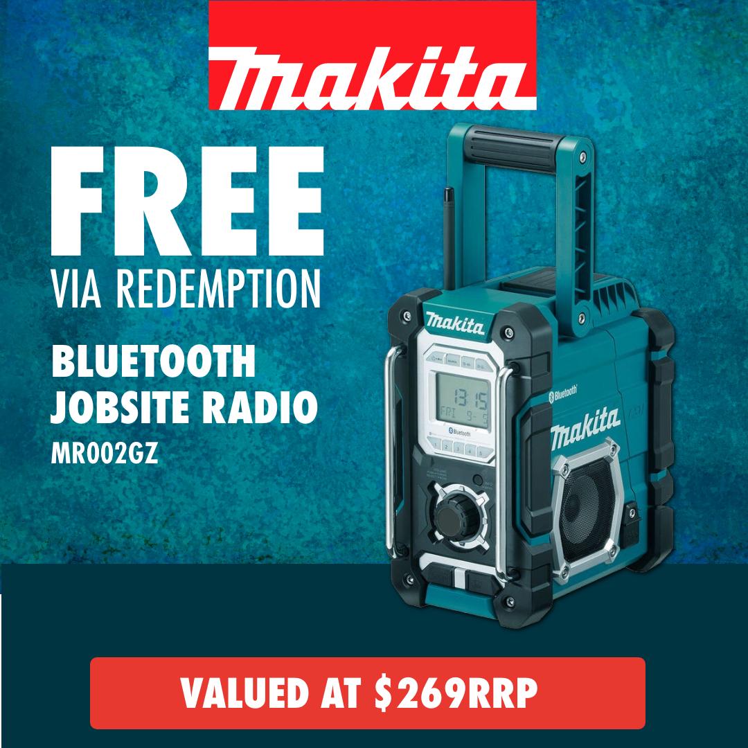 Free via redemption Makita Bluetooth Jobsite Radio