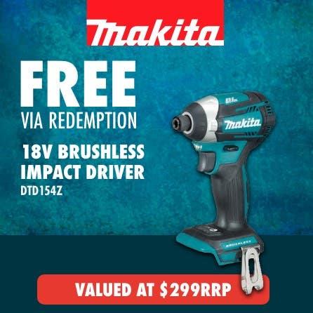 Free via redemption Makita LXT 18V brushless Impact Driver