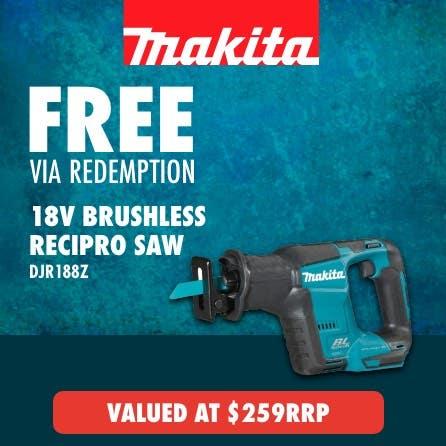 Free Makita LXT 18V Brushless Reciprocating Saw