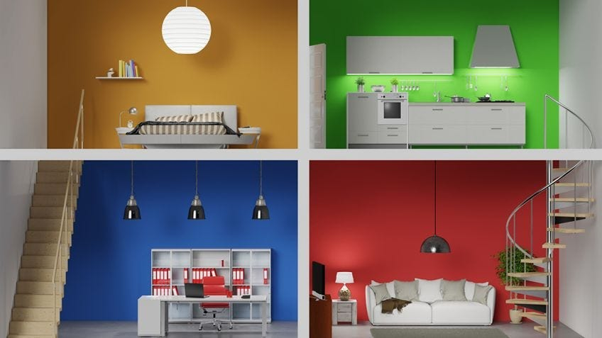 right colour feature wall