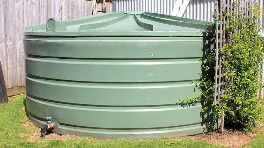 a backyard water tank